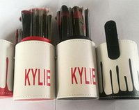 Wholesale 2017 HOT Kylie Makeup Brush Cosmetic Foundation BB Cream Powder Blush pieces Makeup Tools Black red gold DHL