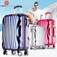 Wholesale Flower Prince wave rod box universal wheel landing chassis Korea trunk inch suitcase female password