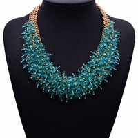 Celtic bib necklaces for sale - luxury2017 NEW Hot Sale Z Fashion Necklace XG134 Collar Bib Necklaces Pendants Chunky Crystal Statement Necklace Jewelry For Women