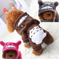Wholesale Pet Cat Dog Costume Soft Warm Clothes Cartoon Totoro Hoodie Coat Four Leg Jumpsuit Clothing for Pets Your Best Choice