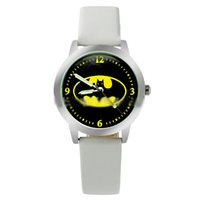 batman buckles - 2017 Batman Movie Fashion Batman Logo Watch Quartz Leather Band Watches Womens Ladies Girls Fashion Watch Free DHL for Up