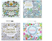 adult christmas books - Secret Garden Coloring Book Painting Drawing Book theme Pages Animal Kingdom Relieve Stress For Children Adult Christmas Gifts free DHL