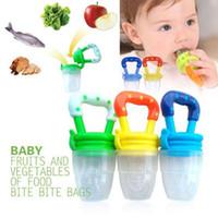baby food weaning - Baby Teether Nipple Fruit Food Baby Infant Feeding Dummies Pacifier Nipples Teethers Shape Baby Teething Feeders soother weaning F49