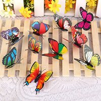 background boards - 20 bag butterfly decorative background paste butterfly monolayer message board fixed stickers