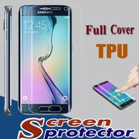 Wholesale Full Coverage Curved Screen Protector TPU Back Front Film Transparent for Samsung Galaxy S7 S6 Edge Plus Note iPhone S Plus quot