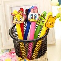 Wholesale Kawaii Cartoon animal Gel Pen mm Black good quality Gift Pen Papelaria Stationery Office School Supplies WJ0367