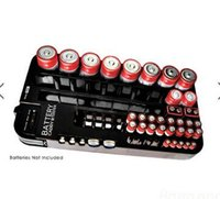 battery caddy - Battery Tester with Caddy Storage Plastic Holder Rack Organizer Removable