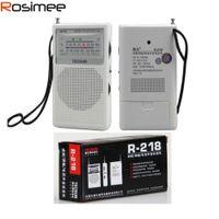 Wholesale Original TECSUN R mini Band Broadcasting Receiver Television sound Pointer MHz Y4155 FM AM Radio Drop Shipping