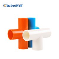 Wholesale Home Decoration Electrical Installation mm inches Size PVC Pipe T Connector PVC Conduit Fitting Pipe Fitting Pack