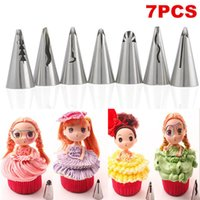 Wholesale Wedding Cake Decorating Icing Stainless Steel Russian Nozzles Pastry Bobbi Skirt Cake Nozzles Decoration Piping Tips Set
