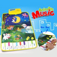 Wholesale Baby Music Carpet Educational Newborn Kid Child Touch Play Game Piano Music Plat Mat Animal Moon Blanket Rug Toys Gift cm