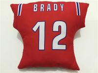 Wholesale 2016 Patriots Cushion Brady Gronkowski Branch Edelman navy red Fans Football Pillows Christmas Throw Pillows Covers For sofa