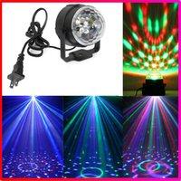 Wholesale Christmas LED W Mini RGB Crystal Magic Ball Stage Lighting Effect Lamp Bulb Party Disco Club DJ Light Show US EU Plug