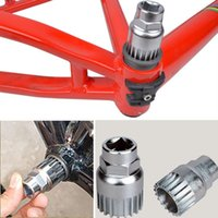 Wholesale New Practical Cycle Cycling Mountain Bicycle Sealed Bottom Bracket Spindle Remover Repair Silver Steel Tool Sports shipping
