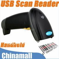 Wholesale High Quality USB Hand Held Handheld Visible Laser Scan Barcode Bar Code Scanner Scan Reader Drop Shipment