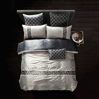 Wholesale Luxury bedding set Silk bedclothes bed linen sets queen king size Quilt duvet cover set bedsheets cotton bedcover FAST ship