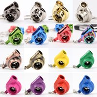 Wholesale Free Delivery Sleeve Bearing Spinning Turbo Turbine Keychain Key Chain Keyring turbocharger Multiple Colors The turbine rotates