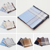 Wholesale Classic handkerchief light colored Gift box handkerchiefs cm men s high grade cotton handkerchief