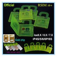 al por mayor sim rápida-Envío rápido R-SIM 10+ R SIM 10 RSIM 10 + Rsim10 + desbloquea la tarjeta para el iphone 6s 6 5S 5 4S ios 9 9.X 3G 3GS CDMA Sprint AU Softbank s uso directo