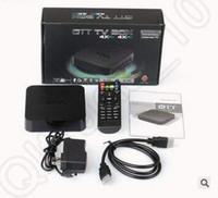 Wholesale MXQ TV Box Amlogic S805 Quad Core Cortex A5 Mali Quad Core H H KODI Pre installed VS MX Pro Android CCA5344