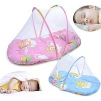 100% Cotton Character as pic Wholesale- New Baby Infant Portable Folding Travel Bed Crib Canopy Mosquito Net Tent