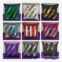 Wholesale Sequin Pillow Case Non Core Cushion Cover Solid Sequins Embroidery Cushions Covers Write Pillow Sheath Direct Deal Pillow Cases xa