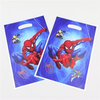 Wholesale Spiderman Cartoon Kids Boys Happy Birthday Party PVC Return Gifts Candy Loot Bag Party Baby Shower Decoration Theme