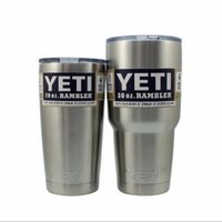 Wholesale 1 Stainless Steel oz oz YETII Cups Cooler Rambler Tumbler Cup Vehicle Beer Mug Double Wall Bilayer Vacuum Insulated