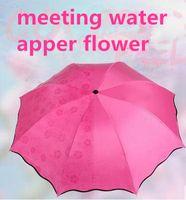 adult water slides - High Level Fashion Women originality meeting water apper flower Three folding umbrella
