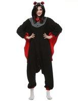 bat kigurumi - Black Bat Kigurumi Pajamas Animal Suits Cosplay Halloween Costume Adult Garment Cartoon Jumpsuits Unisex Animal Sleepwear