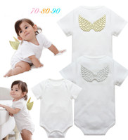 Wholesale INS styles New Arrivals Hot sell infant girl Summer Flower Print and Angel wings romper baby clothing girl romper T