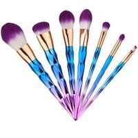 Brosses 7pcs Avis-Unicorn Thread pinceaux de maquillage Professional Make Up Pinceaux Set de brosse fibre Outils de maquillage Eyebrow Eyeliner Poudre <b>Brushes 7pcs</b> / set
