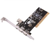 Wholesale 10pcs Newest Ports Firewire IEEE Pin PCI Controller Card Adapter for HDD MP3 PDA