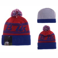 american buffalo gold - Buffalo Beanie Knitted Hats American Football Team Bills Fitted Winter Pom Beanie Hats for Men with Cotton Wool