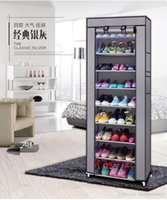 Wholesale Contracted mini single layer large capacity shoe rack metal structure of non woven fabric shoe rack