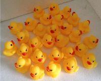 Wholesale Baby Bath Water Toy toys Sounds Mini Yellow Rubber Ducks Kids Bathe Children Swiming Beach Gifts DHL FEDEX