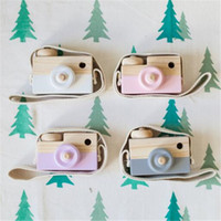 Wholesale Novelty Toys for Kids Baby Wooden Toy Camera Photography Props Mini Toy Baby Cute Safe Natural Birthday Gift Decoration Children s Room