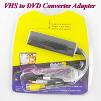 Wholesale 250set update audio video Capture Card USB VHS to DVD Adapter Converter PC PS3 XBOX For win