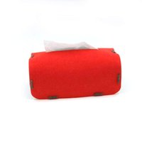 Wholesale New felt tissue boxes tissue receive bag drop shippi Can be customized and adding logo