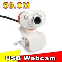 Wholesale 50 Mega Pixel Web Cam Camera W HD Digital USB Web Cam Computer Camera CMOS PC Web Camera for Skype