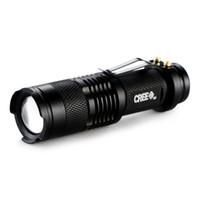Mini Linterna 2000 Lúmenes CREE Q5 LED Antorcha AA / 14500 Zoom Ajustable Zoom Antorcha Lámpara Penlight