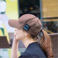 Wholesale Fashion Bluetooth Music Baseball Cap colors Cotton hat Headphone headset Sunhat Wireless Casual Sports Caps For Men Women
