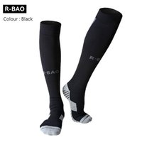 ankle guard soccer - Fashion Cotton Long Soccer Socks Non slip Sport Football Ankle Leg Shin Guard Compression Protector For Men Colors