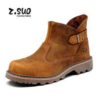 Bottes de moto unisexe fait à la main 100% Bottes de cheville des hommes en cuir véritable Bottes de cowboy de travail d'hiver des femmes de haute qualité Sz 36-44