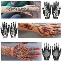 Wholesale New India Henna Temporary Tattoo Stencils For Hand Leg Arm Feet Body Art Template Body Decal For Wedding NB137
