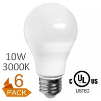 Free low energy light bulbs UK | Free UK Delivery on Free Low ...:6-Pack 2016 New design led bulbs dimming A60 A19 10W CE UL decorative energy-saving  indoor light low price free shipping 3000K Warm White,Lighting
