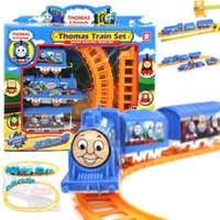 Wholesale Handcrafted Electric Train Tomas Set Boy Kids Educational Toys Christmas Gifts
