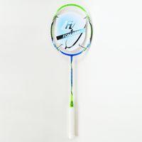 Wholesale SUPER POWER Badminton Rackets Graphite Carbon Offensive Type Lbs U G4 Super Soft Badminton Rackets with Blue Green