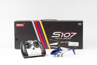 Wholesale Syma S107G CH RC helicopter with GYRO Blue Red Yellow