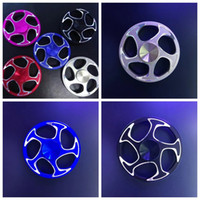 15 roues noires achat en gros de-Spinning Top Hot Wheels Spinners à main Hollow Out Fidget Spinner Metal EDC Decompression Finger Toy Round Red Blue Black 20qr A